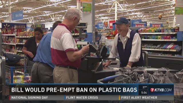 Bill would pre-empt ban on plastic bags