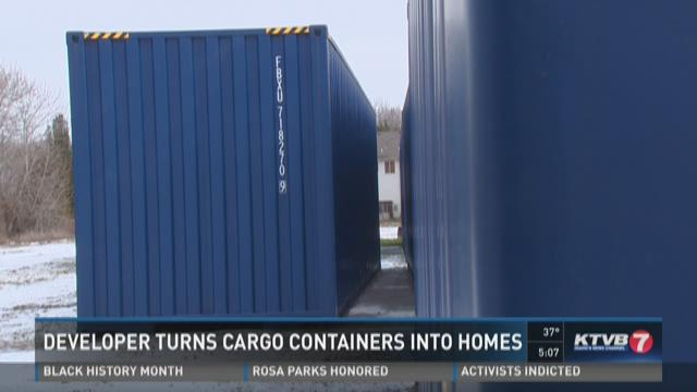 Shipping containers to be turned into homes