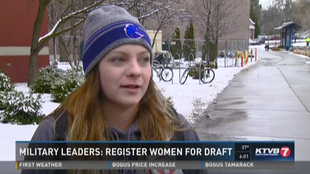 Military leaders: Register woman for draft