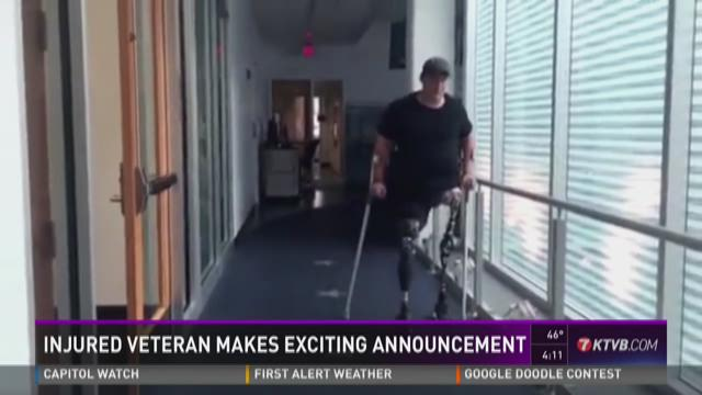 Injured veteran makes announcement