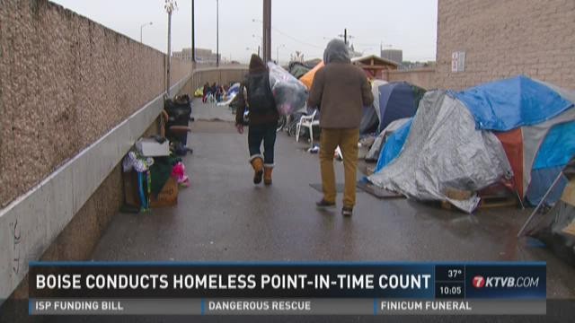 Boise conducts homeless Point-In-Time count