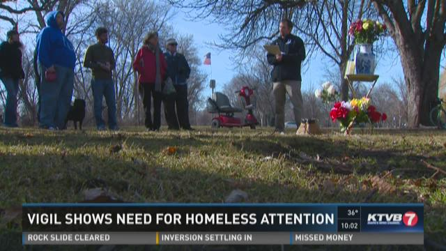 Vigil shows need for homeless attention