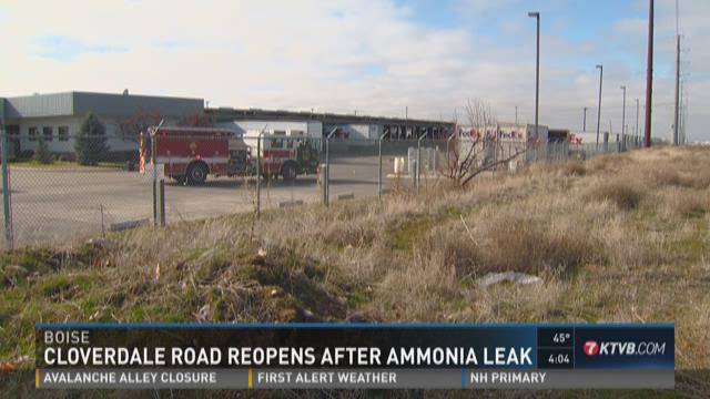 Cloverdale Road reopens after ammonia leak
