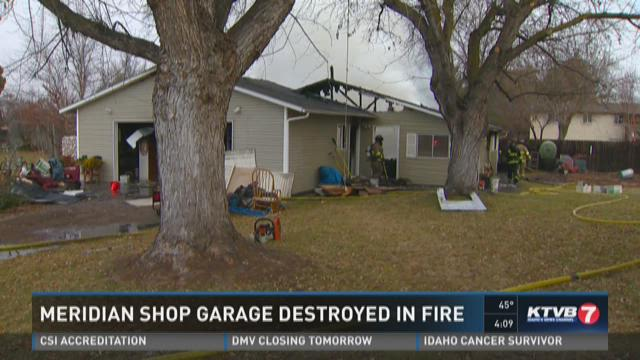 Meridian shop destroyed in fire