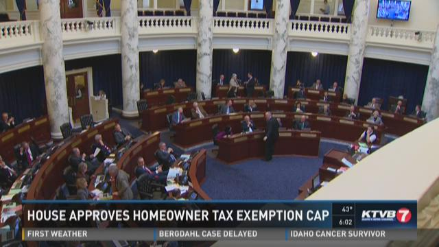 House approves homeowner tax exemption cap