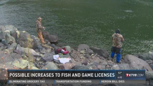 Possible increases to fish and game licenses ktvb com for Fish and game licence