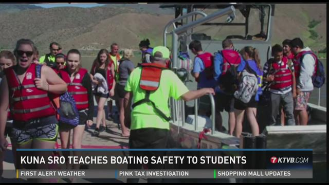 Kuna SRO teaches boating safety to students06-03-2015