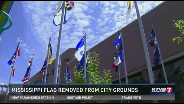 Mississippi flag removed from Boise city grounds06-24-2015