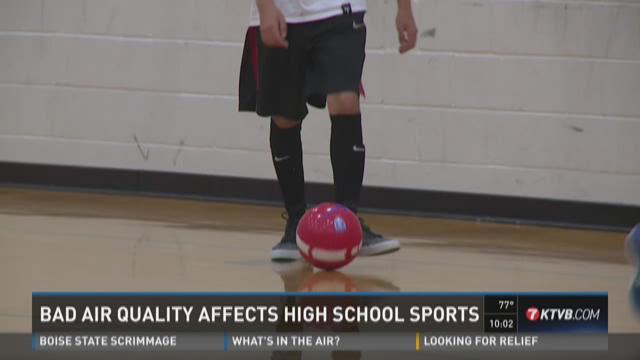 Bad air quality affects high school sports