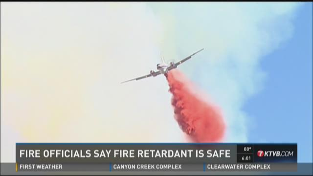 Fire officials say fire retardant is safe