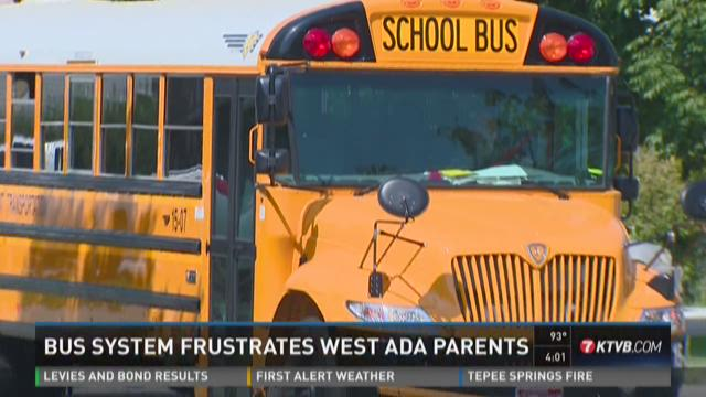 Bus system frustrates West Ada parents