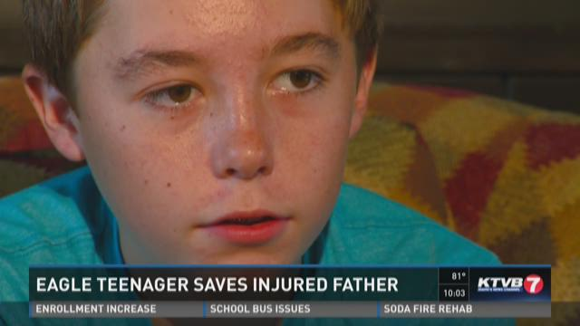 Eagle teenager saves injured father