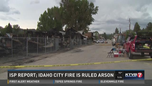 Idaho City fire is ruled arson