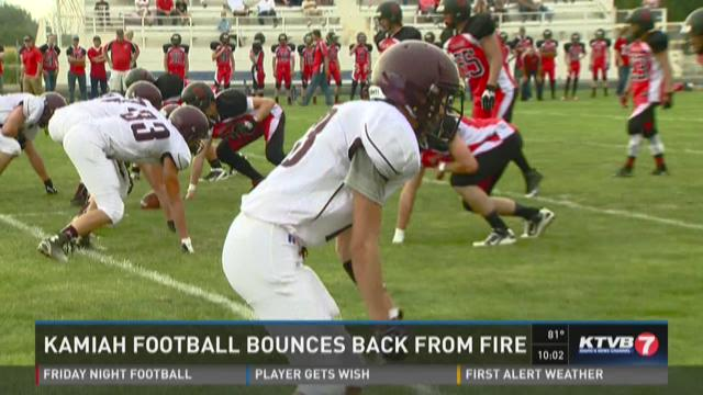 Kamiah football bounces back from fire