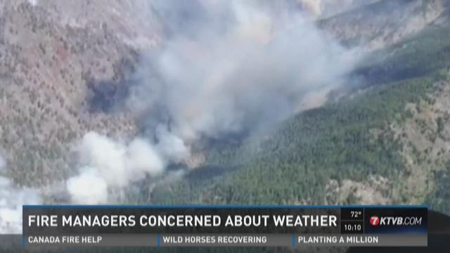 Fire managers concerned about weather