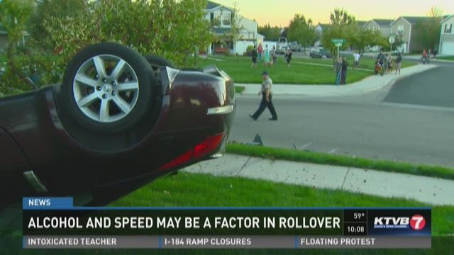 Driver arrested after rollover crash