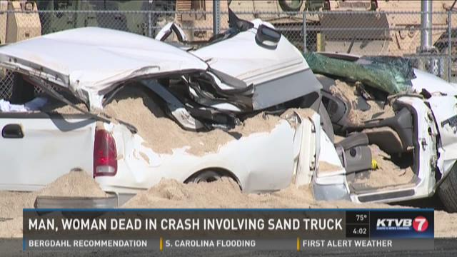 Two dead in crash involving sand truck