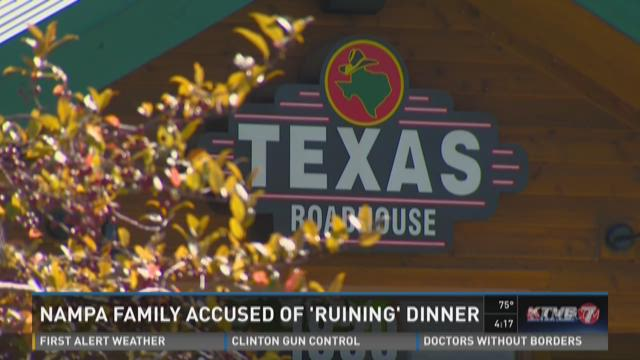 Nampa family accused of 'ruining' dinner