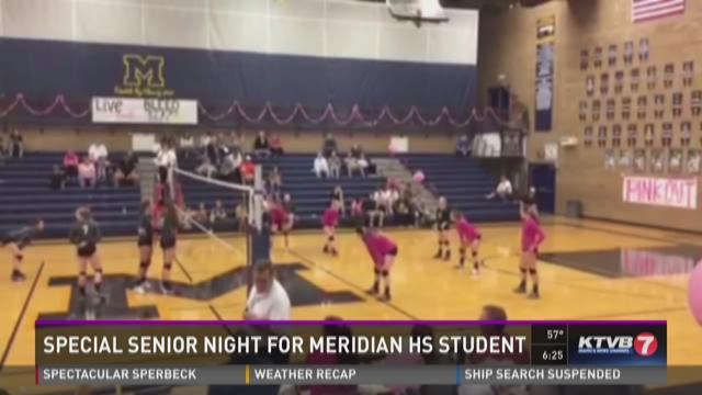 Meridian High School senior scores first point on senior night