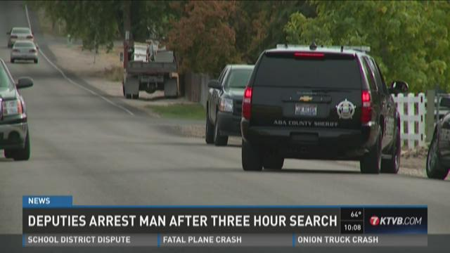 Deputies arrest man after three-hour search
