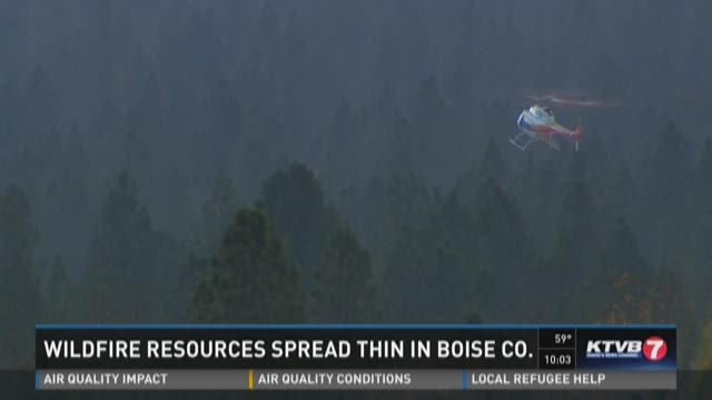 The Walker Fire continues to burn in Boise County.