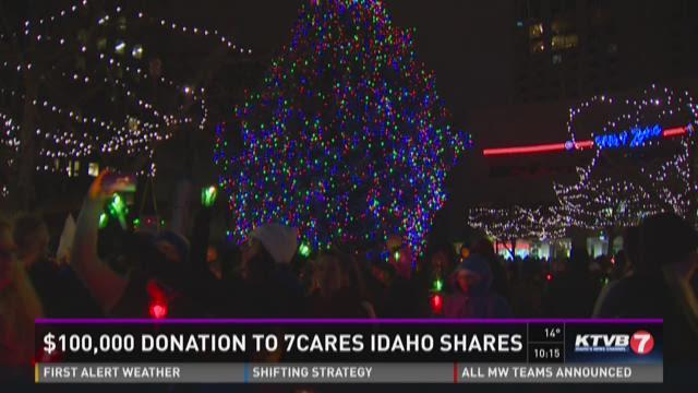 $100,000 donation to 7Cares, Idaho Shares